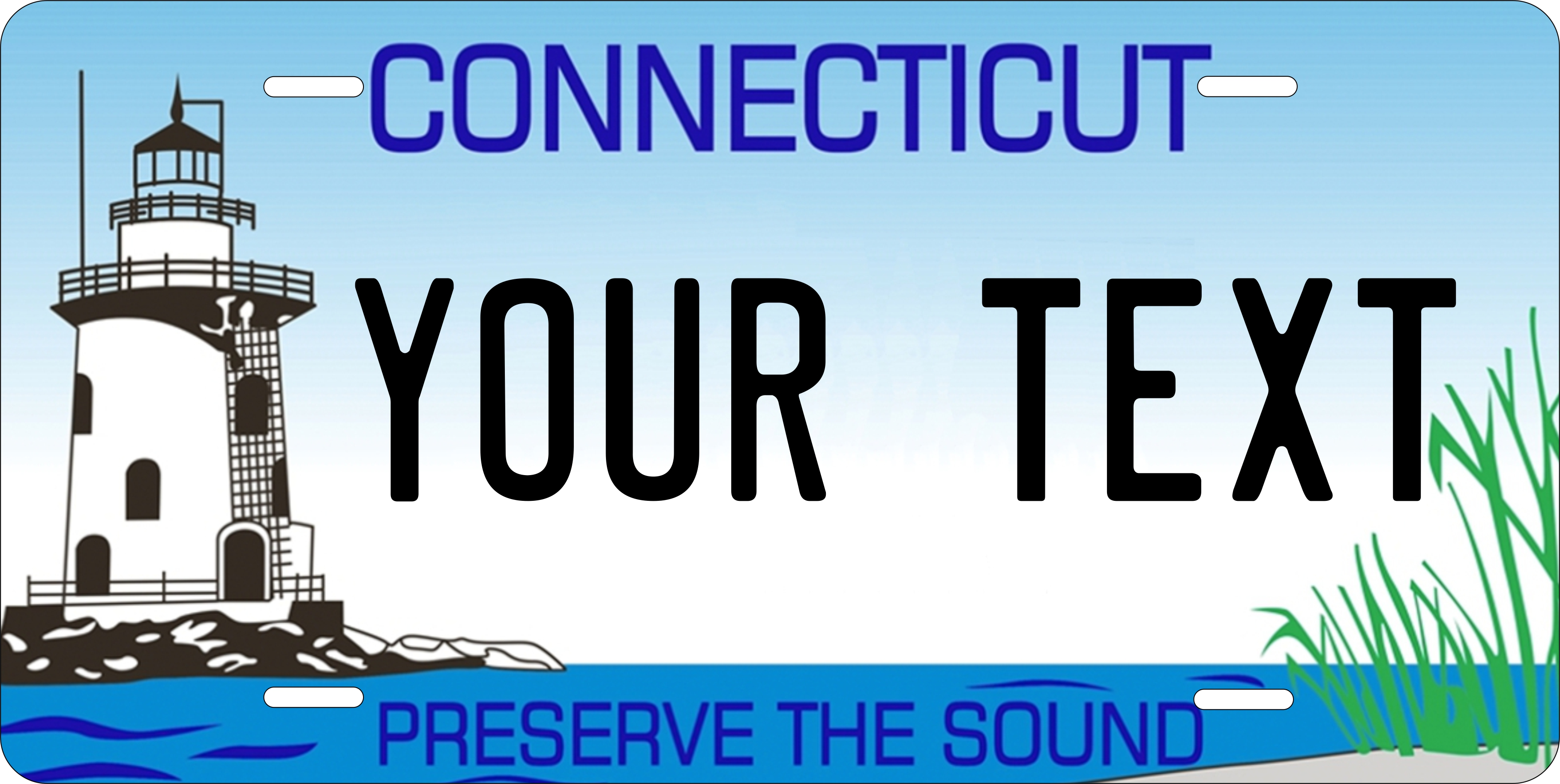 Connecticut Light House Plates Tag Personalized Auto Car Custom ...