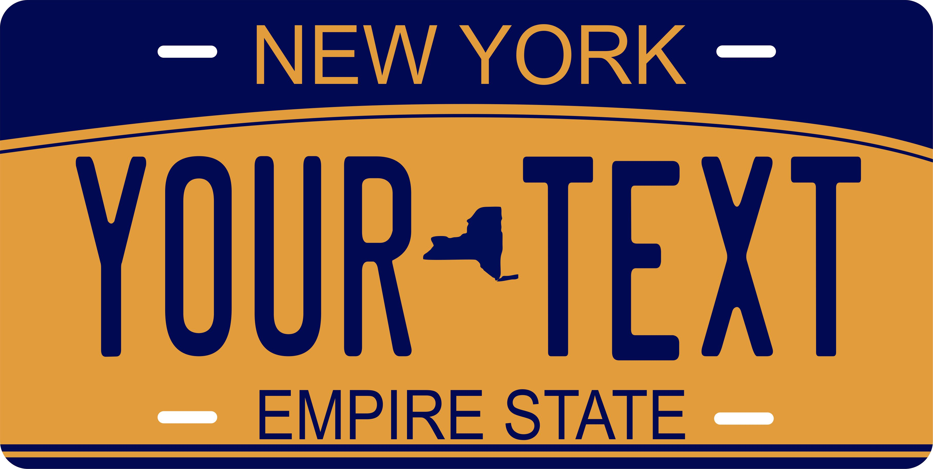 Details about New York 2010 Tag License Plate Personalized Auto Car Custom  VEHICLE OR MOPED