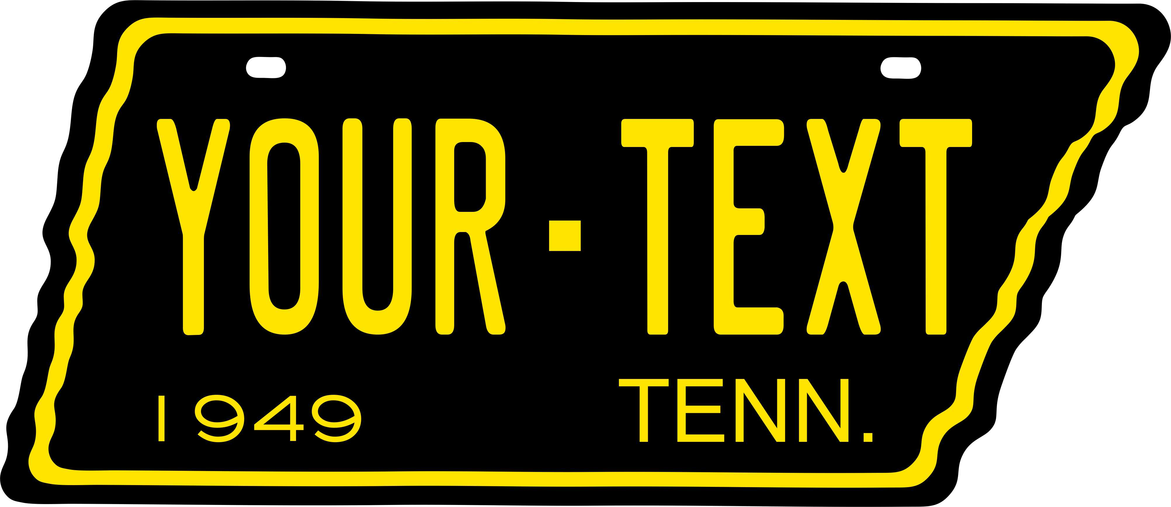 Tennessee 1949 Tag Custom Personalize Novelty Vehicle Car Auto ...